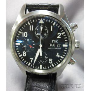"Stainless Steel Chronograph ""Pilot"" Wristwatch, IWC Schaffhausen"