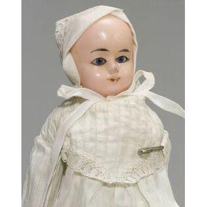 Wax-over-Papier Mache Motschmann-type Baby