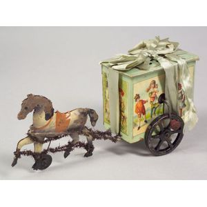 Manivelle Horse-Drawn Wheeled Toy