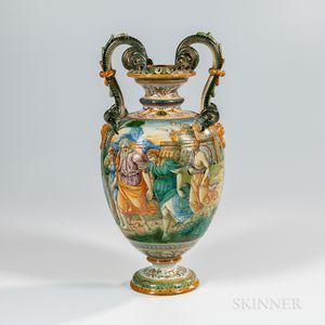 Cantagalli Majolica Vase