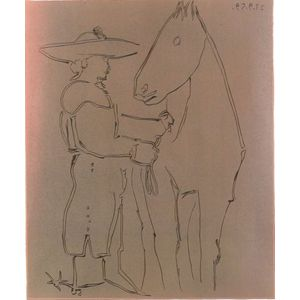 Pablo Picasso (Spanish, 1881-1973)    Picador Debout Avec Son Cheval