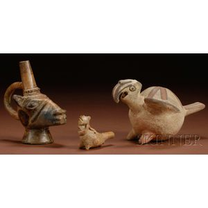 Three Pre-Columbian Painted Pottery Vessels