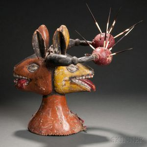African Head Crest Mask