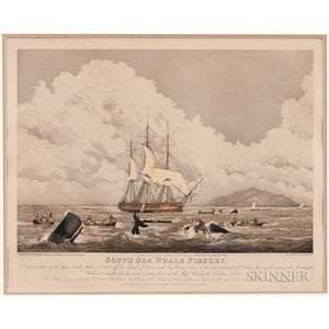 T. Sutherland, Engraver, After William J. Huggins (English, 1781-1845)    South Seas Whale Fishery