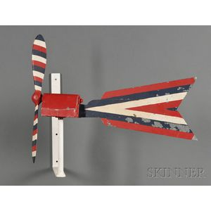 Red, White, and Blue-painted Wooden Whirligig