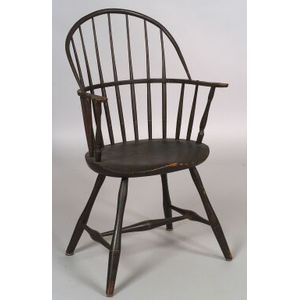 Painted Sack-back Windsor Chair