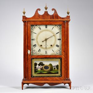 Silas Hoadley Pillar and Scroll Shelf Clock