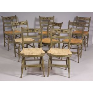 Set of Eight Fancy Chairs