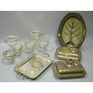 Group of Silver Plated Tableware Items