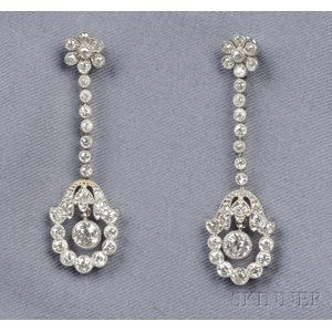 Platinum and Diamond Earpendants