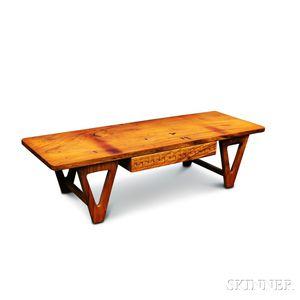 Mid-century Modern Maple Coffee Table