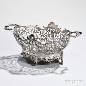 Victorian Sterling Silver Basket