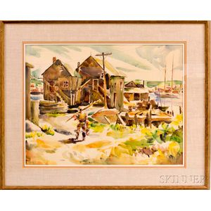 Lawrence Wilbur (American, 1897-c. 1988/89)    Fisherman