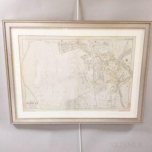 Framed Map of Dorchester