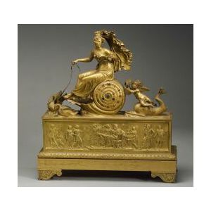 French Louis XVI-style Ormolu Mantel Clock