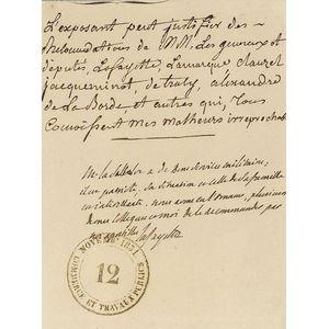 Lafayette, Marie Joseph Paul Yves Roch Gilbert du Motier, Marquis de (1757-1834)