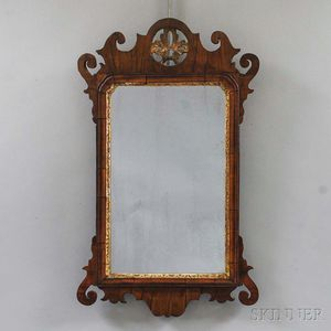 Queen Anne Carved and Gilt Scroll-frame Mirror