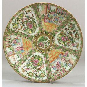 Rose Medallion Porcelain Charger