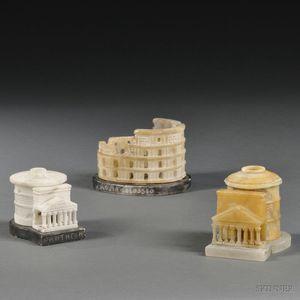 Three Grand Tour Models of Roman Buildings
