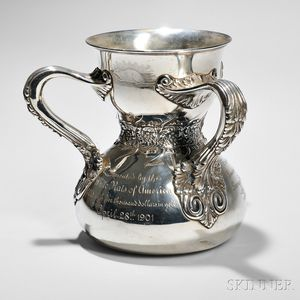 Tiffany & Co. Sterling Silver Three-handled Presentation Loving Cup