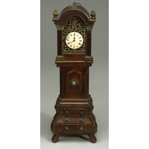 Dutch Baroque-style Oak and Gilt Metal Watch Hutch