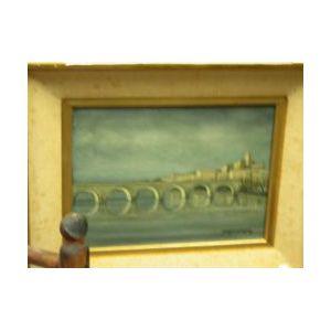 Framed Oil Bridge View
