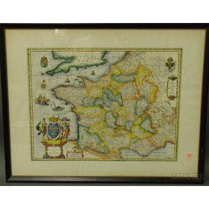 Map of Gallia/France After Willem Blaeu