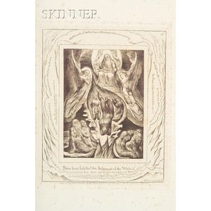 William Blake (British, 1757-1827)    Thou Hast Fulfilled the Judgment  of the Wicked...