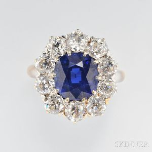 Fine Antique Sapphire and Diamond Ring, Howard & Co.