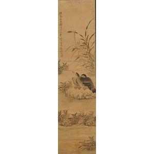 Pair of Framed Cormorant Paintings