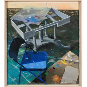 Joe Naujokas (American, b. 1958)      Blue Chair/Green Floor
