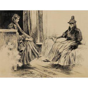 Charles Dana Gibson (American, 1867-1944)      The Social Call.