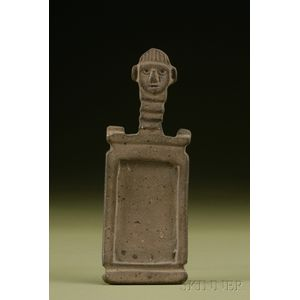 Pre-Columbian Carved Stone Snuff Tablet