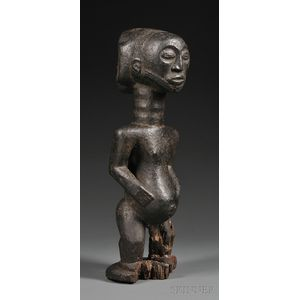 Hemba Carved Wood Male Figure