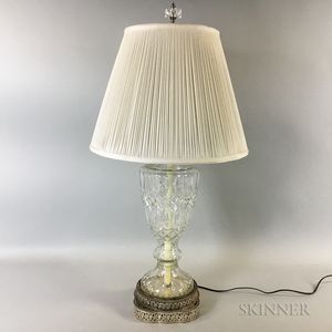 Cut Glass Lamp