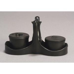 Wedgwood Black Basalt Inkstand with Pots