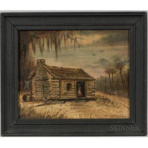 Walter Channing Addison (Massachusetts/Florida, 19th/20th Century)       Florida Cottage Scene.