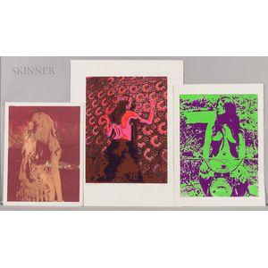 William Weege (American, b. 1935)    Seven Color Screenprints of Women: Nancy