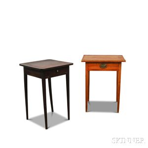 Two Federal One-drawer Stands