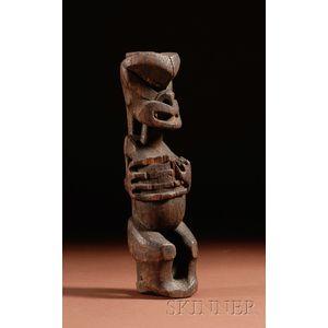 Maori Carved Wood Figure