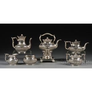 Whiting Sterling Six-piece Tea and Coffee Set