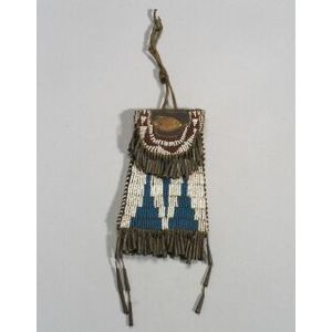 """Southern Plains Beaded Leather """"Strike-a-lite"""" Pouch"""