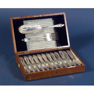 Victorian Silver Plate Fish Service for Twelve