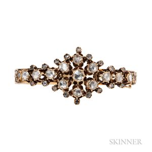 18kt Gold and Rose-cut Diamond Bracelet