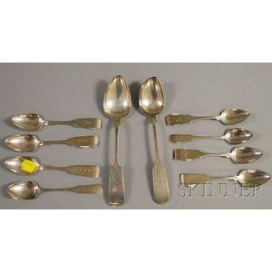 Ten Coin Silver Spoons