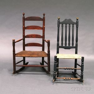 Two Country Rocking Chairs