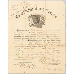 Civil War Discharge Certificate