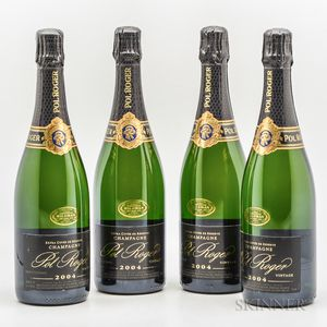 Pol Roger Vintage Brut 2004, 4 bottles