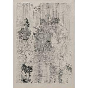 Henri de Toulouse-Lautrec (French, 1864-1901)      Le marchand de marrons (The Roasted-Chestnut Vendor)