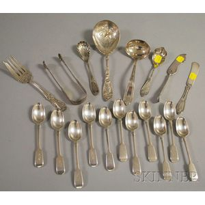 Group of Sterling and Silver-plated Flatware and Serving Items
